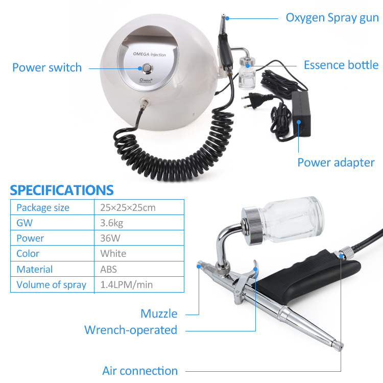 Oxygen Spray beauty device 2