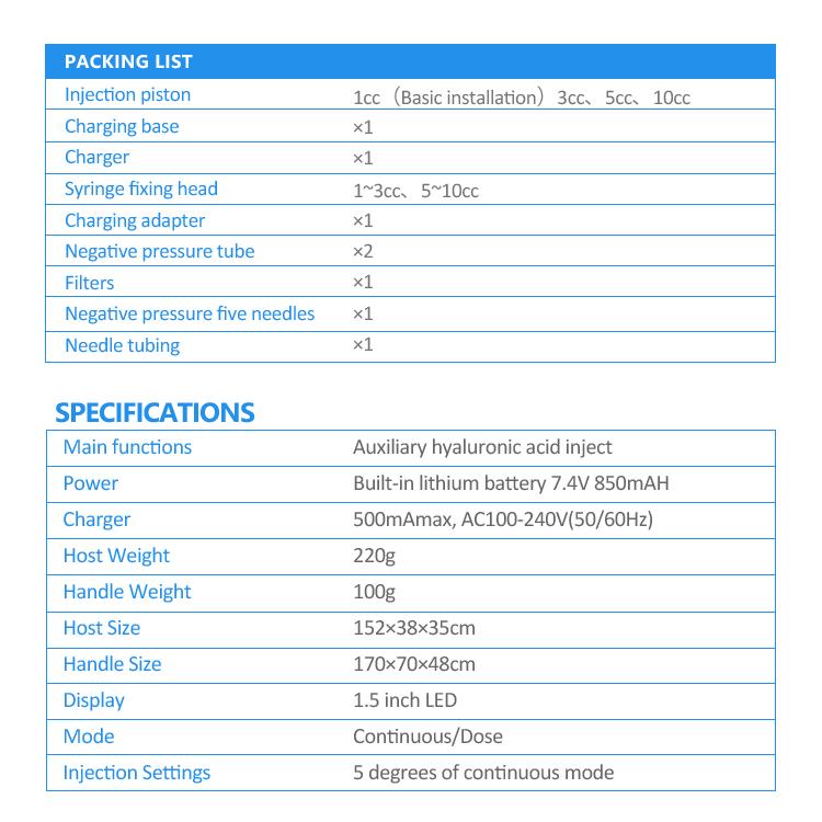 EZ Negative pressure Injector Skin Tightening Machine 2