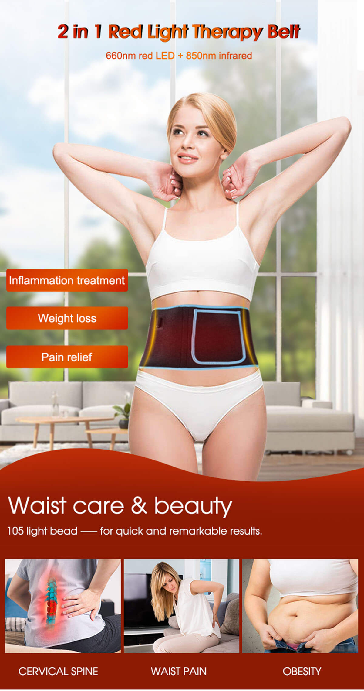 Near Infrared laser therapy belt 9