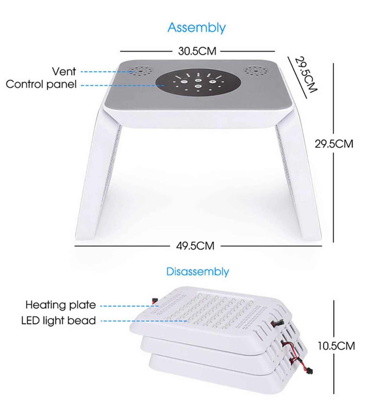 fold light therapy machine 2