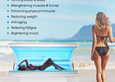 Sunshine Tan Ben Machine Bed Solarium Device SPA029