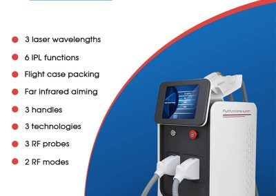 3 in 1 IPL SHR OPT ND YAG Laser Tattoo Removal Multifunction Laser Hair Removal Device EN100